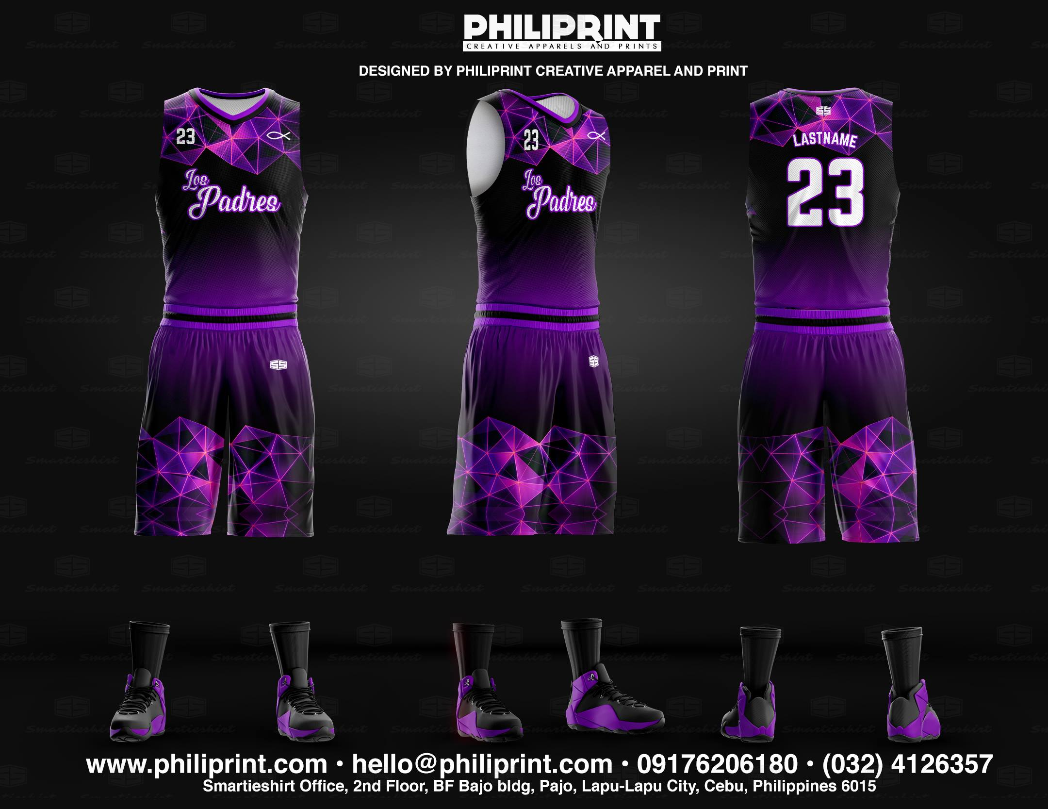 The Padres Full Sublimation Basketball Jersey Philiprint