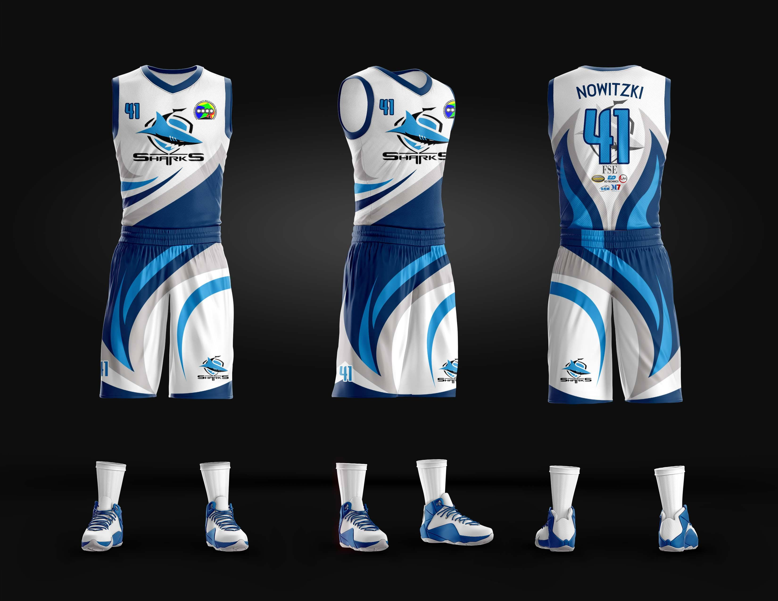 cheap for discount 85e84 eb483 Sharks Full Sublimation Basketball Jersey – Philiprint