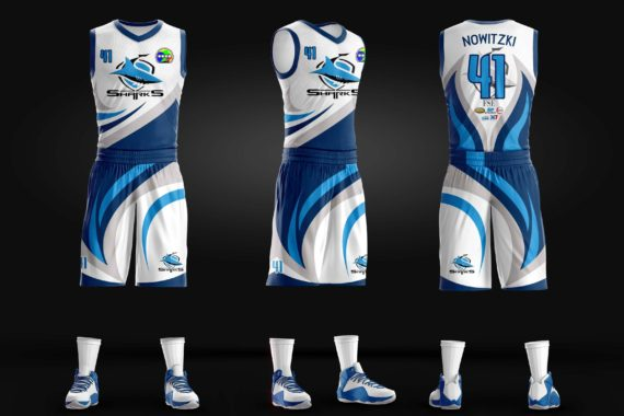 90ee07d0a0a Sharks Full Sublimation Basketball Jersey