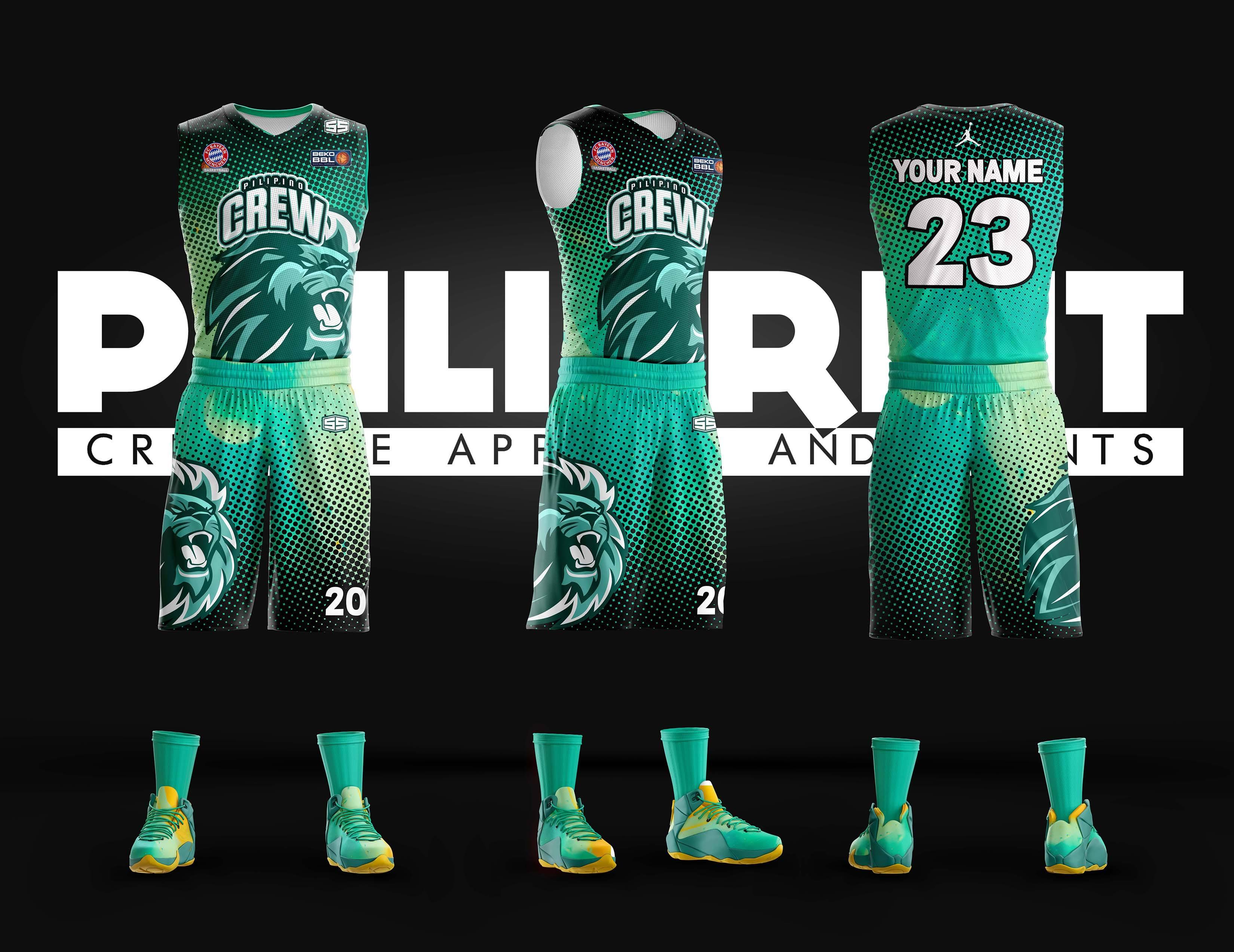 new style 3e5a8 47dbf Filipino Crew Full Sublimation Basketball Jersey – Philiprint